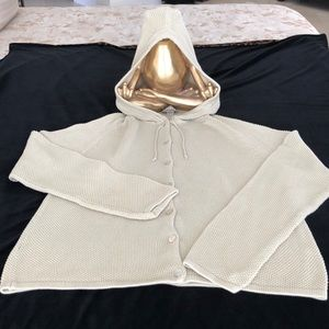 TOMMY BAHAMA LINEN CABLE LOOK HOODIE